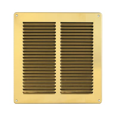 Griglia di aerazione in metallo forma quadrato L 24 x H 24 cm
