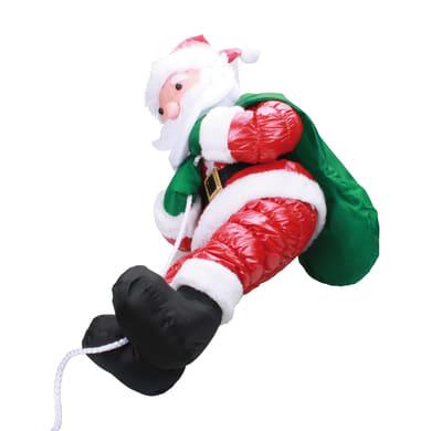 Babbo natale rosso Babbo Natale che si arrampica H 60 cm