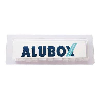 Porta-etichetta in plastica abs L 7 x H 2.5 cm