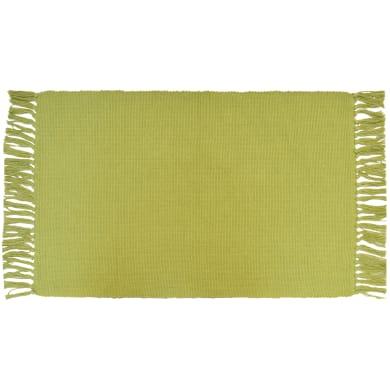 Tappeto Basic in cotone, verde, 50x80 cm