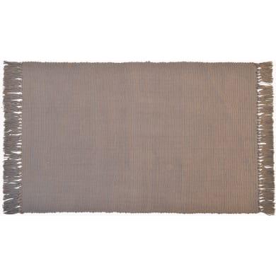 Tappeto Basic in cotone, marrone, 50x80 cm