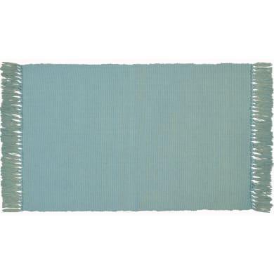 Tappeto Basic in cotone, azzurro, 50x80 cm