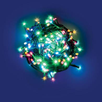 Catena luminosa 180 lampadine LED multicolore 200 cm