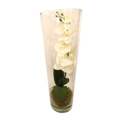 Fiore artificiale Orchidea in vaso H 50 cm