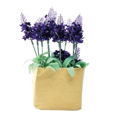 Composizione floreale Lavanda H 21 cm