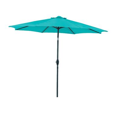 Ombrellone da patio NATERIAL Koeos L 3 x P 3 m color blu atollo