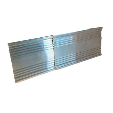 Bordino in alluminio 1.2 m x 120 cm grigio