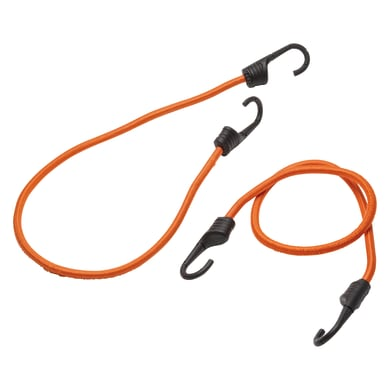 Cavo elastico arancio / ramato L 0.8 m x Ø 9 mm 2 pezzi