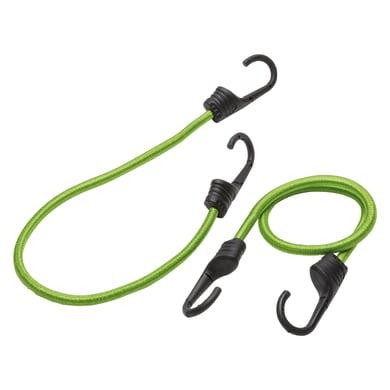 Cavo elastico verde L 0.6 m x Ø 9 mm 2 pezzi