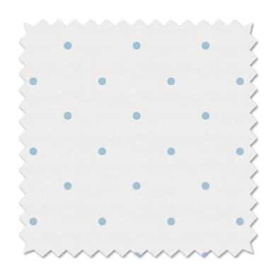Tessuto al taglio Pois azzurro 100 cm