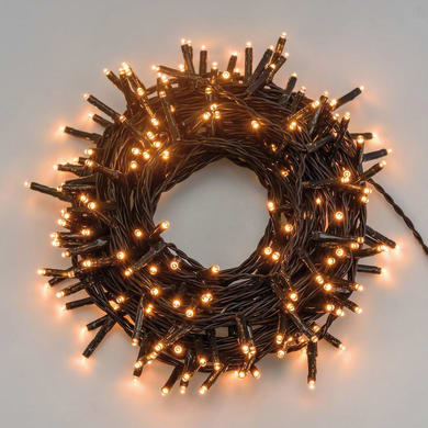 Catena luminosa 1000 lampadine LED bianco caldo 4 m