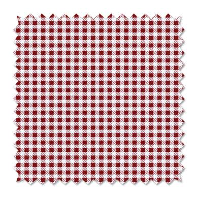 Tessuto al taglio Vichy rosso 100 cm