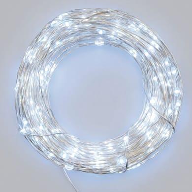 Catena luminosa 20 lampadine LED bianco freddo 10 cm