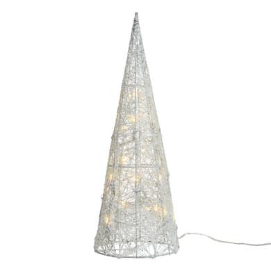 Cono 32 lampadine bianco caldo H 60 cm