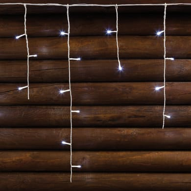 Tenda luminosa 120 lampadine led bianco freddo H 60 x L 512 cm