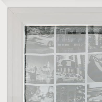 Tendina vetro City grigio tunnel 90 x 210 cm