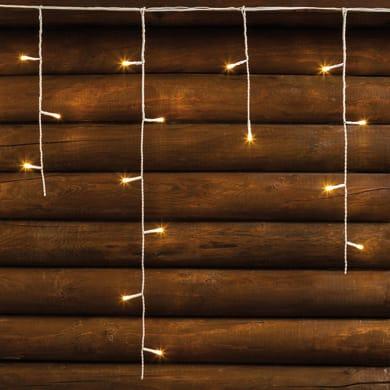 Tenda luminosa 120 lampadine led bianco caldo H 60 x L 512 cm