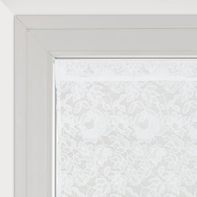 Tendina vetro Cleopatra bianco tunnel 60 x 230 cm