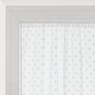 Tendina vetro Elsa bianco tunnel 60 x 150 cm