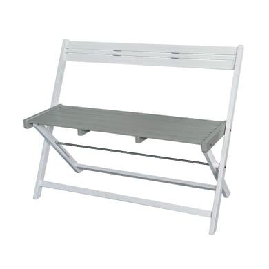 Panca da giardino senza cuscino pieghevole 2 posti in legno Balcony colore grigio