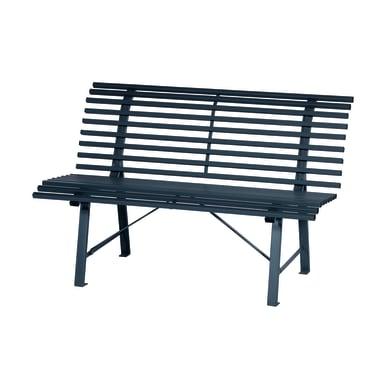 Panca Park in acciaio colore grigio 3 posti