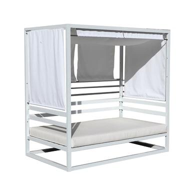 Letto da esterno in alluminio Baldacchino bianco L 120 x H 200 cm