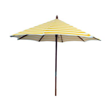 Ombrellone L 2.4 x P 2.4 m color giallo