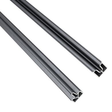 Profilo 2 pezzi Kyoto in alluminio H 200 x L 2 grigio