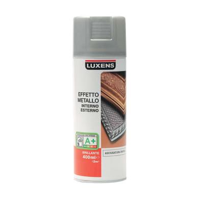 Smalto spray LUXENS Effetto Metallo argento metallizzato 0.0075 L