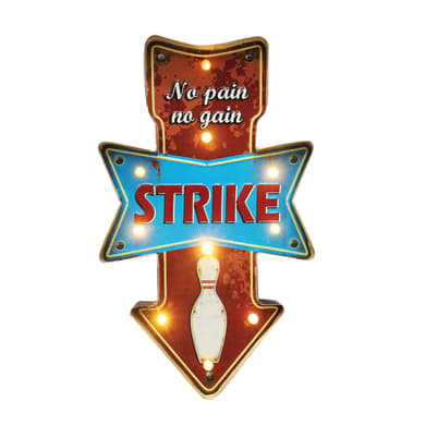 Scritta Strike 32x54.5 cm