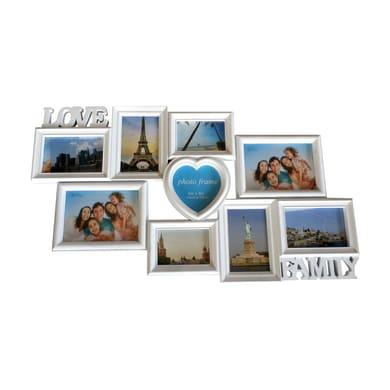 Cornice Love&Family per 9 fotografie 13 x 18  bianco