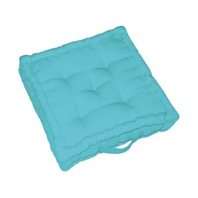 Cuscino da pavimento INSPIRE Elema azzurro 60x60 cm