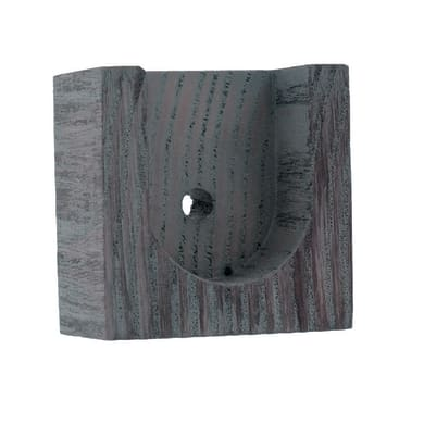 Supporto rosetta Ø28mm Sonoma in legno grigio striato satinato 1.5cm, 2 pz INSPIRE