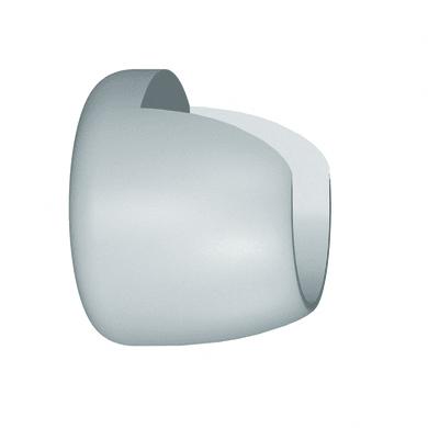 Supporto singolo chiuso Sweet in legno bianco laccato, 2 pezzi