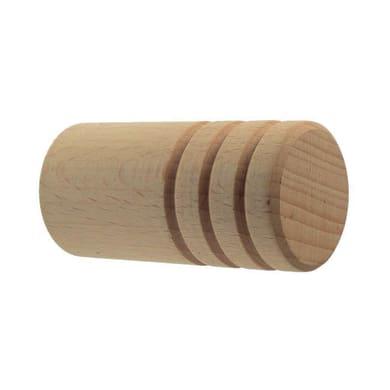 Finale per bastone Ø28mm Aosta pomolo in legno grezzo Set di 2 pezzi