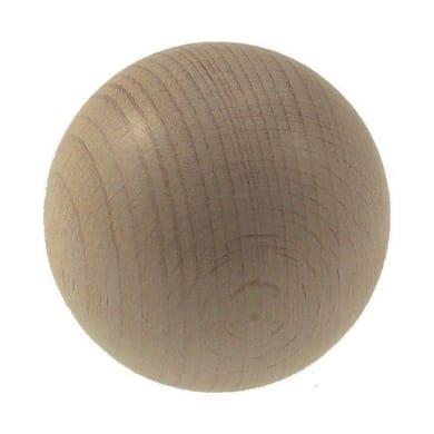 Finale per bastone Ø20mm Malmo sfera in legno sbiancato Set di 2 pezzi