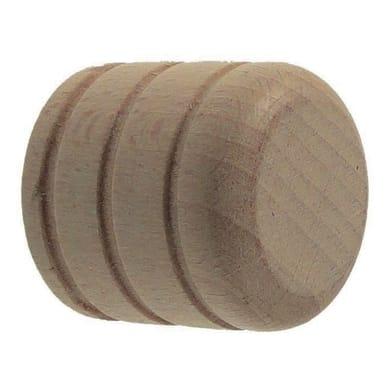 Finale per bastone Ø20mm Malmo tappo in legno sbiancato Set di 2 pezzi