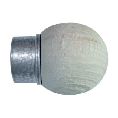 Finale per bastone Sofia sfera Ø28mm grigio, beige grezzo INSPIRE