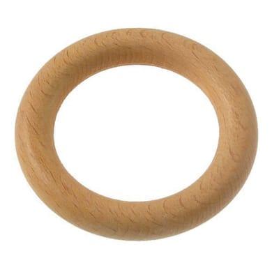 Anelli Ø28mm Parigi in legno naturale verniciato, 8 pz