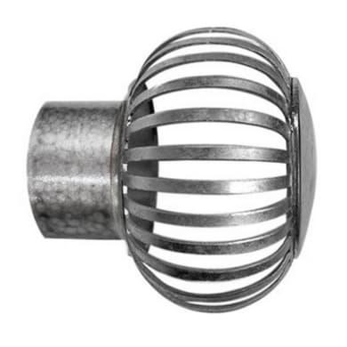 Finale per bastone Ø28mm Sofia a filo in acciaio grigio impregnato INSPIRE
