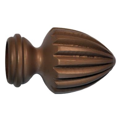 Finale per bastone Ø28mm Vilnius punta in legno lucido