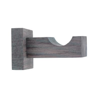 Supporto singolo aperto Ø28mm Sonoma in legno grigio, multicolor satinato7.5 cm