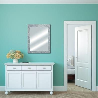 Specchio a parete rettangolare Glitterata argento 62x82 cm