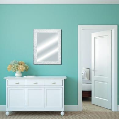 Specchio a parete rettangolare Glitterata bianco 60x90 cm