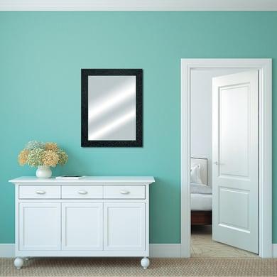 Specchio a parete rettangolare Glitterata nero 60x90 cm