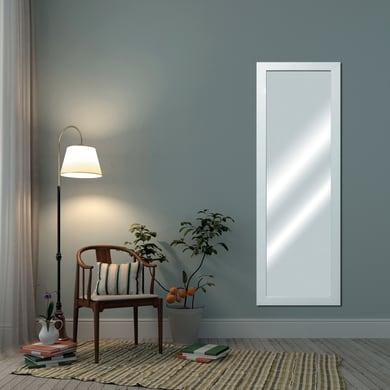 Specchio a parete rettangolare Tara bianco 36x136 cm