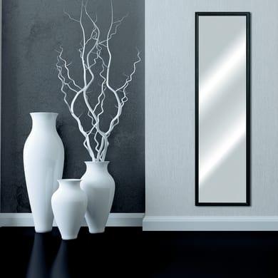 Specchio a parete rettangolare Bomber nero 44x144 cm