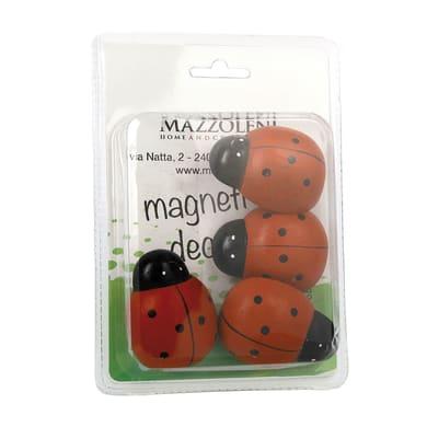 Magnete Coccinella in ferro 4 pezzi rosso