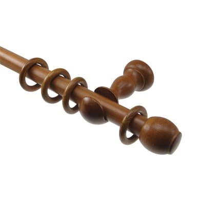 Kit bastone per tenda Teak in legno Ø 22 mm ciliegio selvatico 200 cm