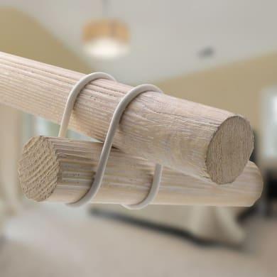 Kit bastone per tenda Shabby in legno Ø 28 mm grigio
